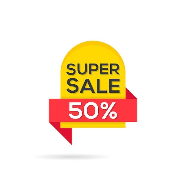 Modèle de bannières de vente Vecteur Premium