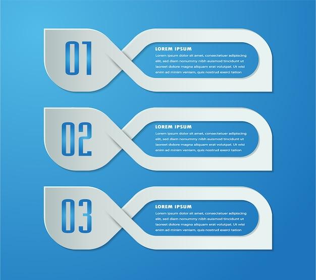 Modèle de boîte de texte papier, bannière infographique Vecteur Premium