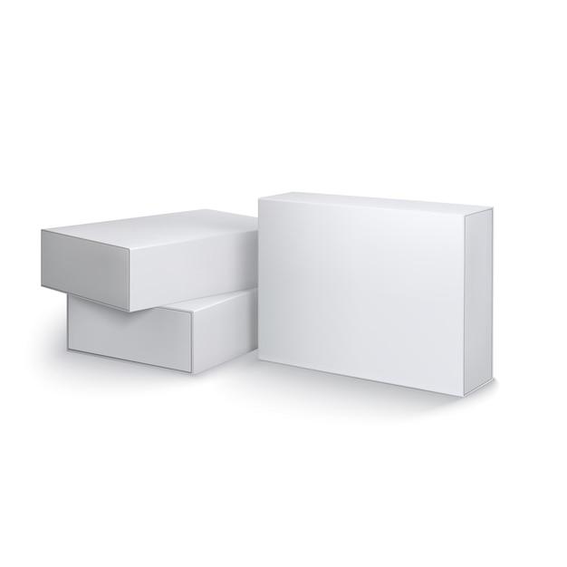 Modèle De Boîtes D'emballage Vecteur Premium