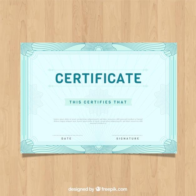 Modèle de bordure de certificat vintage Vecteur gratuit