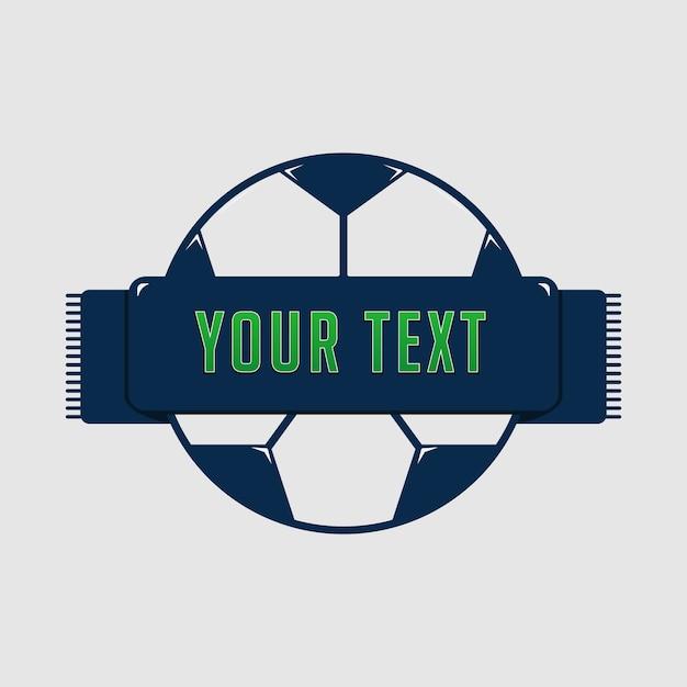 Modèle de brillant brillant bleu ballon de football ou football insigne Vecteur Premium