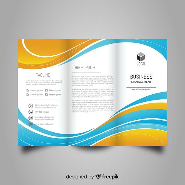 Modèle de brochure abstrait à trois volets Vecteur gratuit