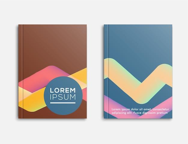 Modèle De Brochure Abstraite, Conception De La Couverture Brochure De Bannière Pour Entreprise, Illustration Vectorielle Vecteur Premium