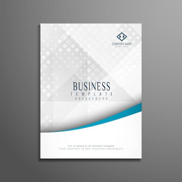 Modèle de brochure commerciale abstraite et élégante Vecteur gratuit