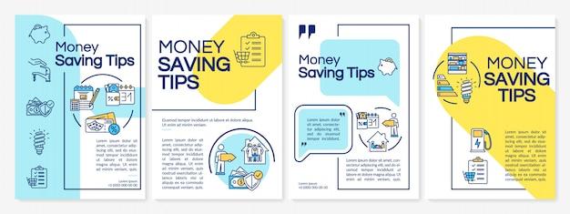 Modèle De Brochure De Conseils D'économie D'argent Vecteur Premium