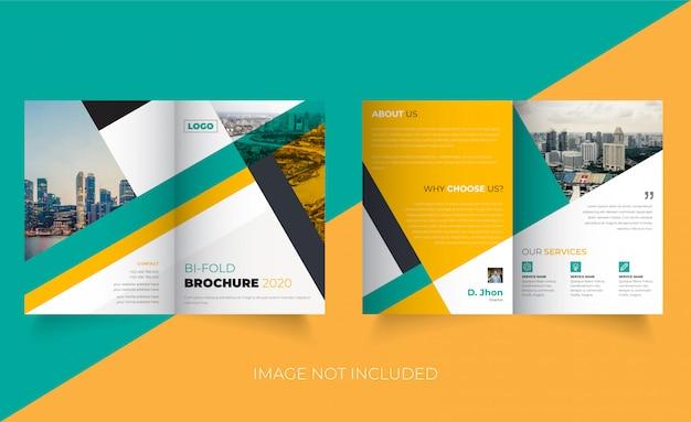 Modèle De Brochure Créative Bi-fold Vecteur Premium