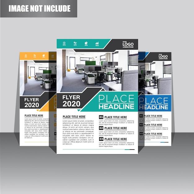 Modèle de brochure ou dépliant pour la couverture du rapport annuel Vecteur Premium