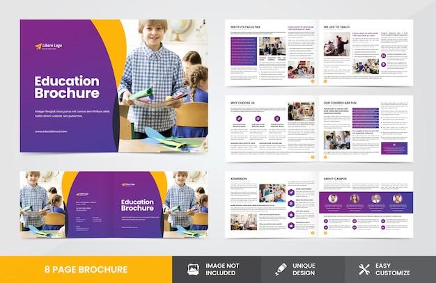 Modèle De Brochure De éducation Vecteur Premium