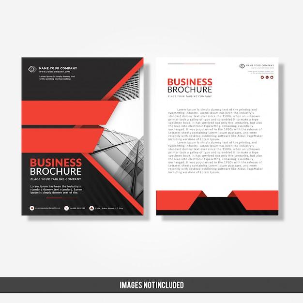 Modèle de brochure de l'entreprise moderne Vecteur Premium