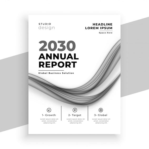 Modèle De Brochure D'entreprise Rapport Annuel Blanc Abstrait Vecteur gratuit