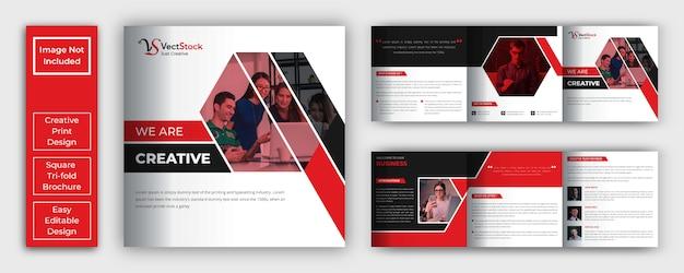 Modèle De Brochure D'entreprise à Trois Volets Vecteur Premium