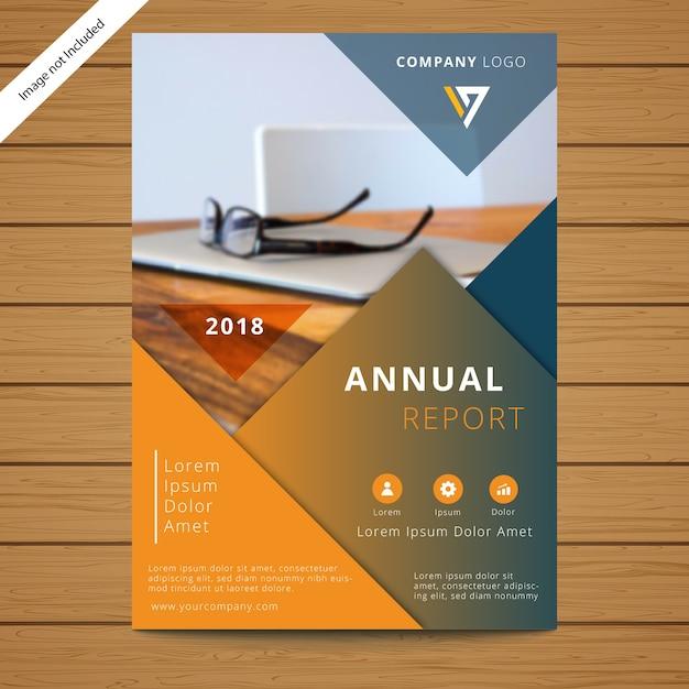 Modèle de brochure de l'entreprise Vecteur Premium