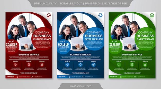 Modèle De Brochure D'entreprise Vecteur Premium