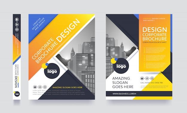 Modèle De Brochure Flyer Affiche Moderne Vecteur Premium