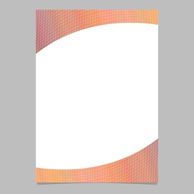 Modèle de brochure en grille à gradient abstrait Vecteur gratuit