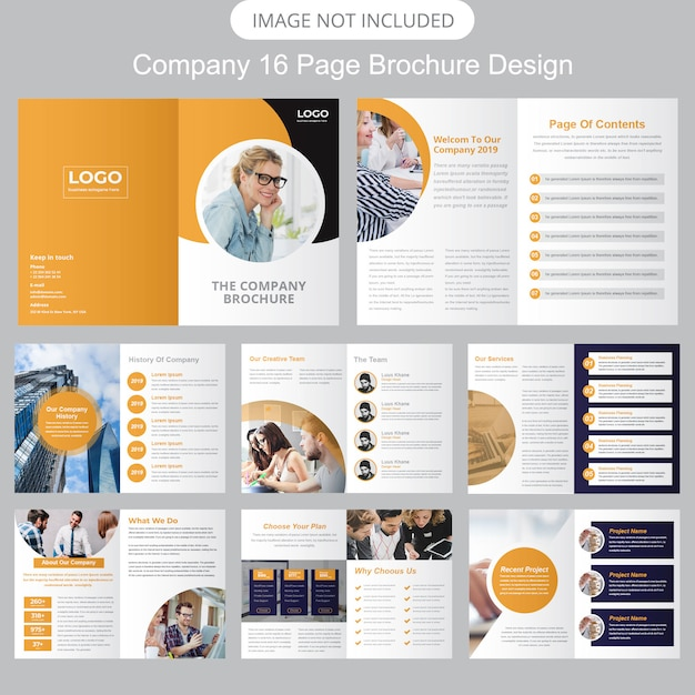 Modèle de brochure de profil d'entreprise Vecteur Premium