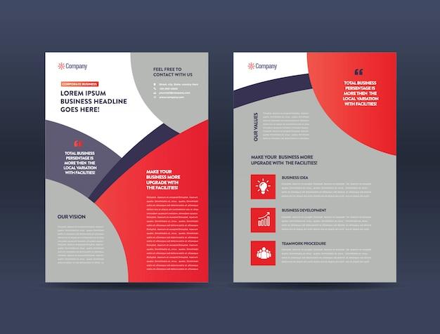 Modèle de brochure de publicité Vecteur Premium