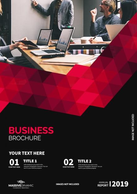 Modèle de brochure rouge moderne Vecteur gratuit