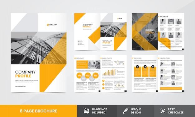 Modèle De Brochure De Société D'entreprise Vecteur Premium
