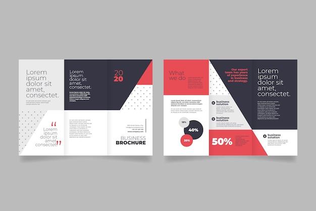 Modèle De Brochure à Trois Volets Abstrait Vecteur Premium