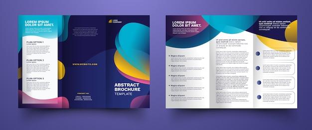 Modèle De Brochure à Trois Volets Abstrait Vecteur gratuit