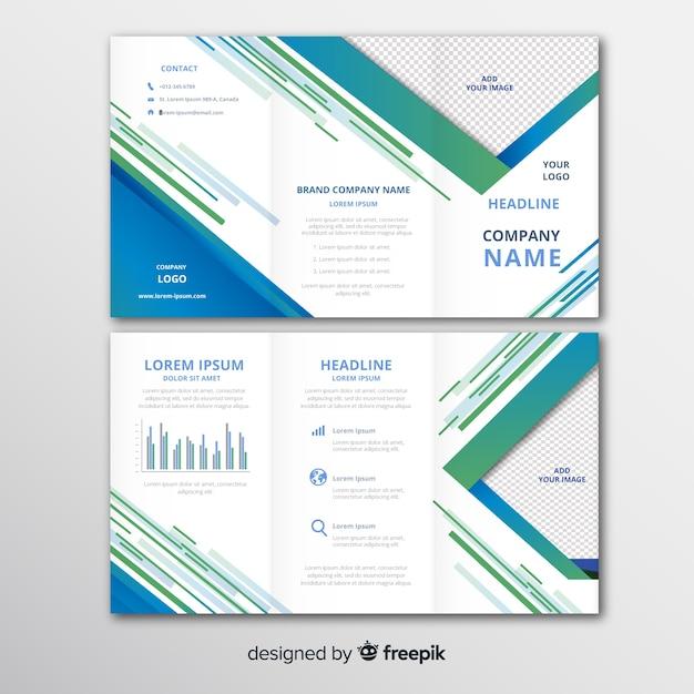 Modèle de brochure à trois volets d'affaires Vecteur gratuit