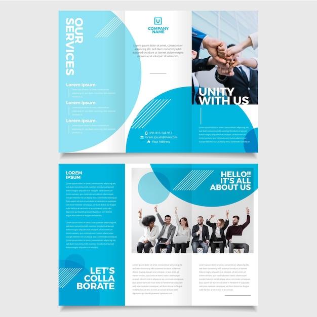 Modèle De Brochure à Trois Volets Minimal Vecteur Premium