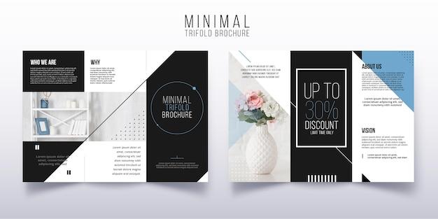 Modèle De Brochure à Trois Volets Minimal Vecteur gratuit