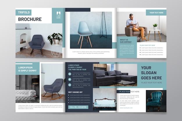 Modèle De Brochure à Trois Volets Avec Photo Vecteur gratuit