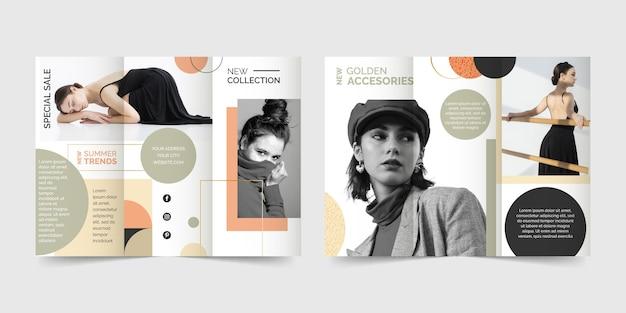 Modèle De Brochure à Trois Volets De Style Abstrait Vecteur gratuit