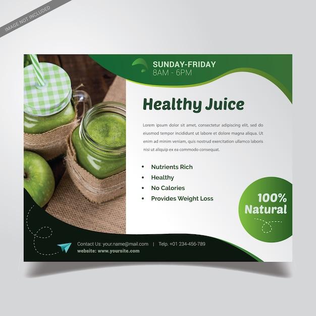 Modèle de brochure verte en bonne santé Vecteur Premium