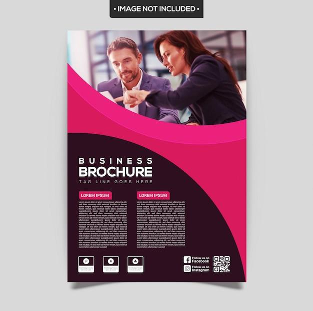 Modèle de brochure violet et rose Vecteur Premium