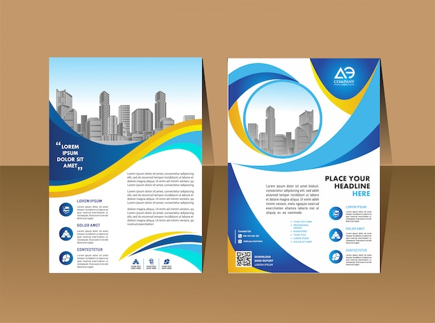 Modèle de brochure Vecteur Premium