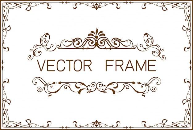 Modèle de cadre de bordure doré du certificat Vecteur Premium