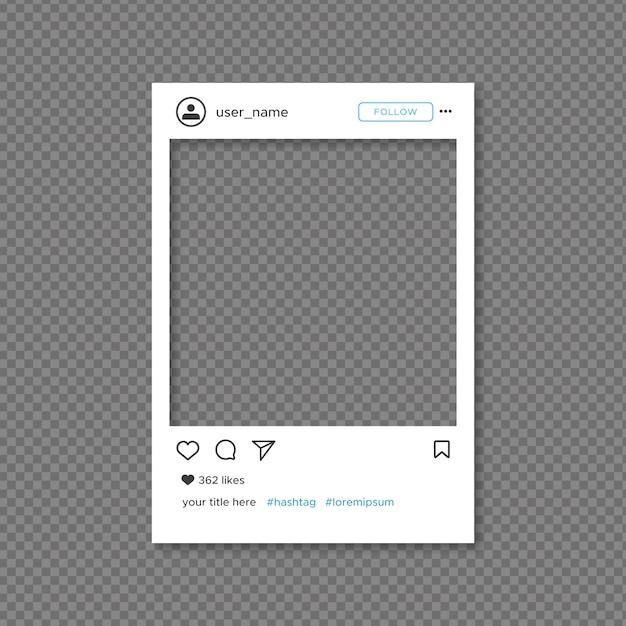 Modèle de cadre instagram Vecteur gratuit