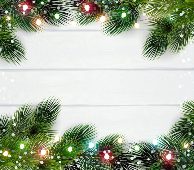 Modèle De Cadre De Noël Vecteur gratuit