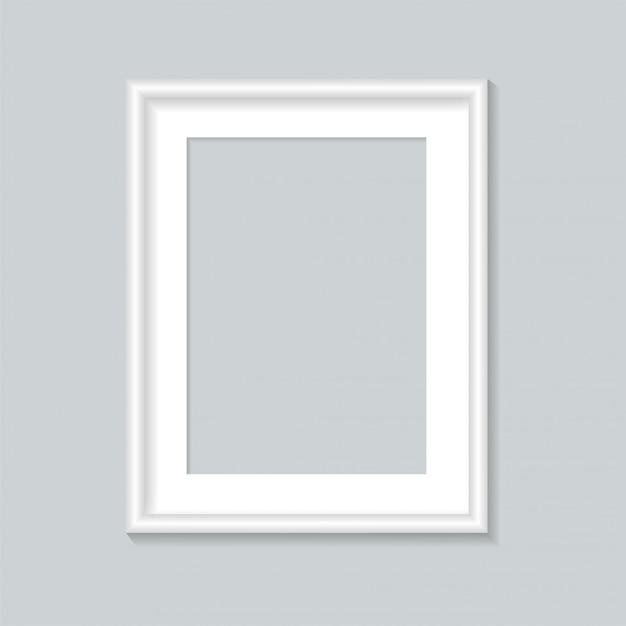 Modèle De Cadre Photo Blanc. Vecteur Premium