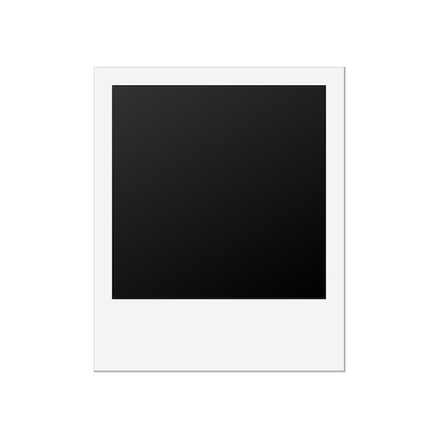 Modèle de cadre photo polaroid Vecteur Premium