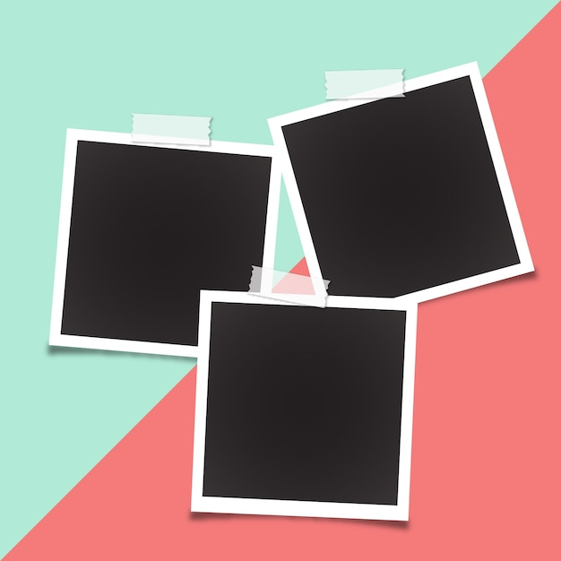 Modèle de cadre polaroid Vecteur gratuit