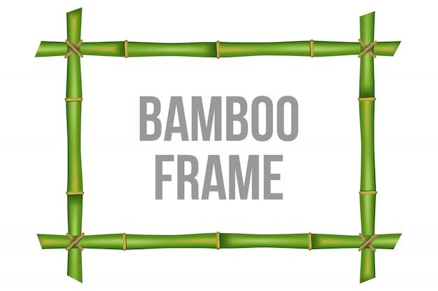 Modèle de cadre de tiges de bambou Vecteur Premium