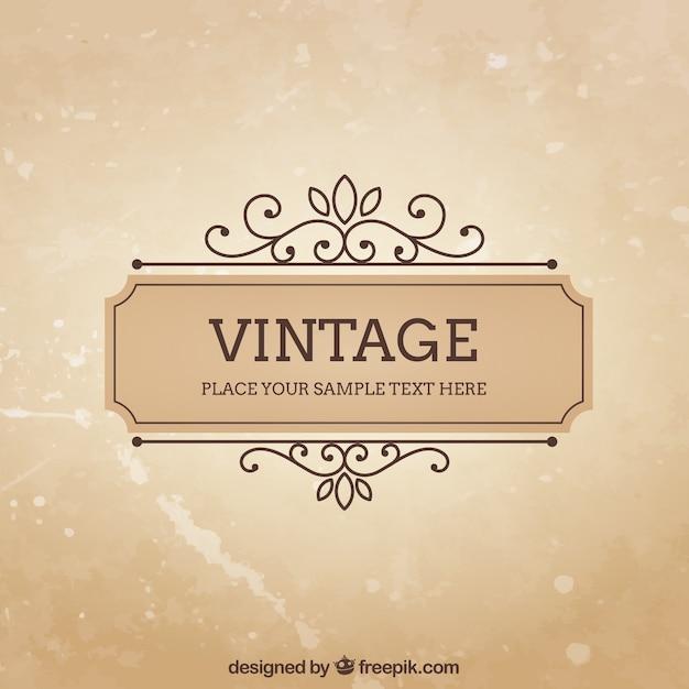 Modèle de cadre vintage Vecteur gratuit