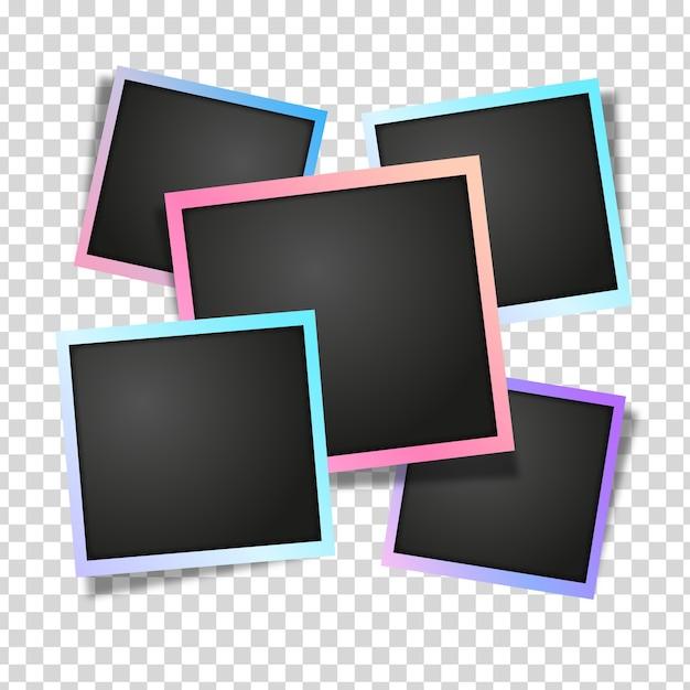 Modèle de cadres polaroid Vecteur gratuit