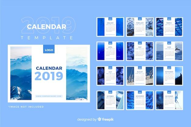 Modèle De Calendrier 2019 Vecteur gratuit