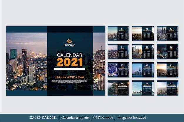 Modèle De Calendrier 2021 Design Moderne Vecteur gratuit