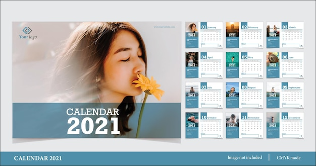Modèle De Calendrier 2021 Moderne Vecteur gratuit