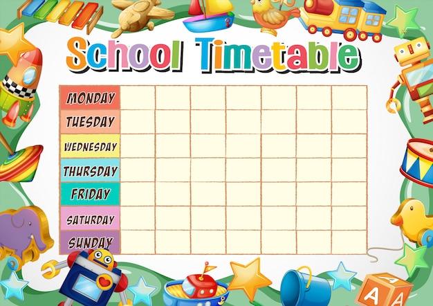 Modèle de calendrier scolaire Vecteur gratuit