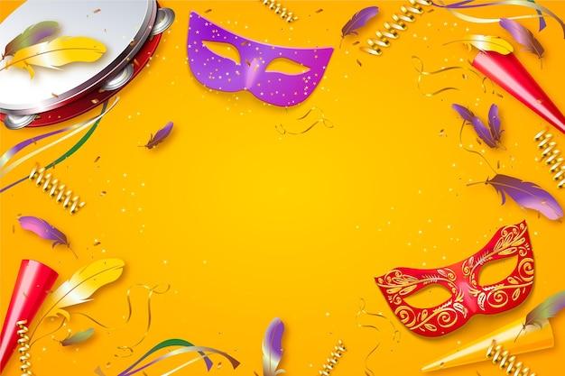 Modèle De Carnaval Brésilien Réaliste Vecteur gratuit