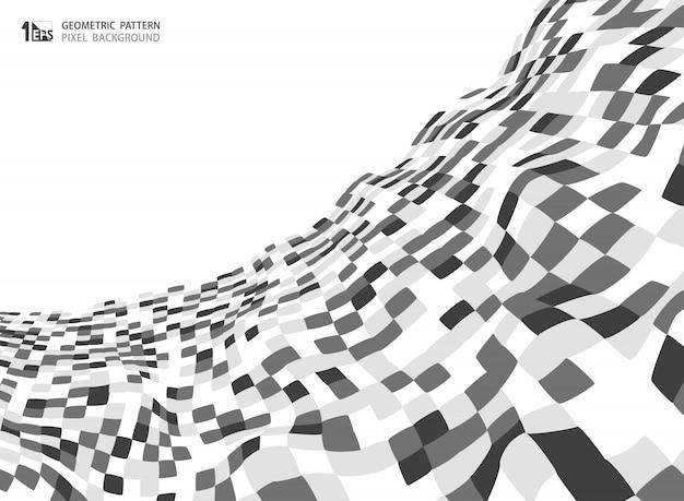 Modèle carré de couleur grise abstraite Vecteur Premium