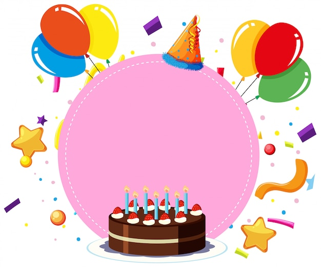 Un Modèle De Carte D'anniversaire Vecteur gratuit
