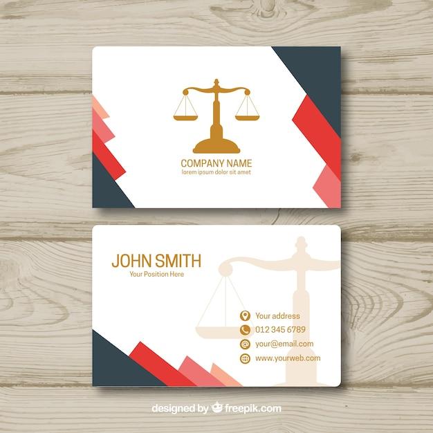 Modèle de carte d'avocat Vecteur gratuit
